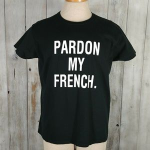 Pardon My French Graphic T-shirt Size XL